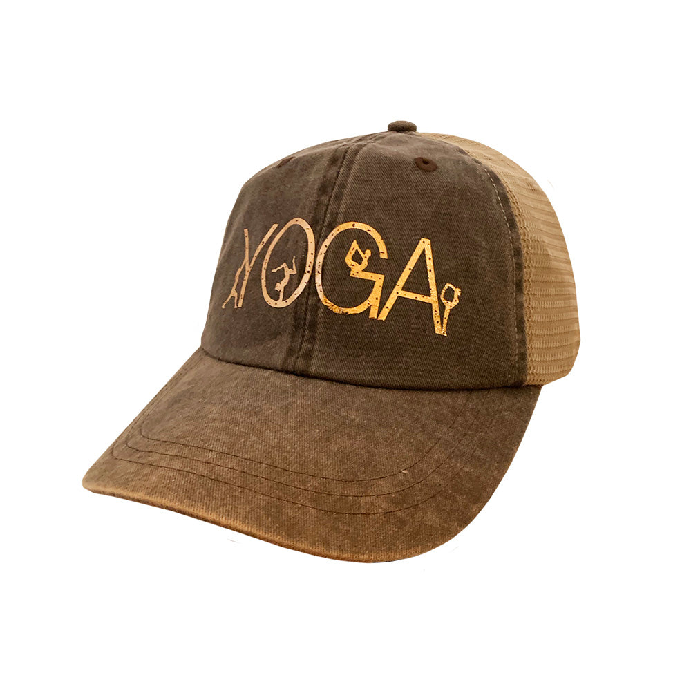 Yoga Brown Mesh Cap