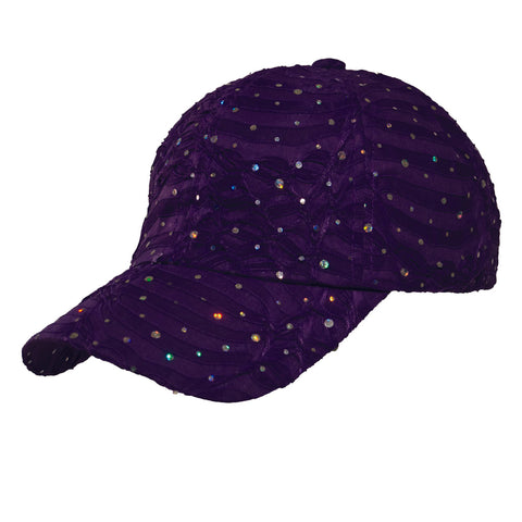 Purple Glitter Cap