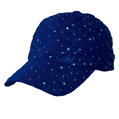 Royal Blue Glitter Cap