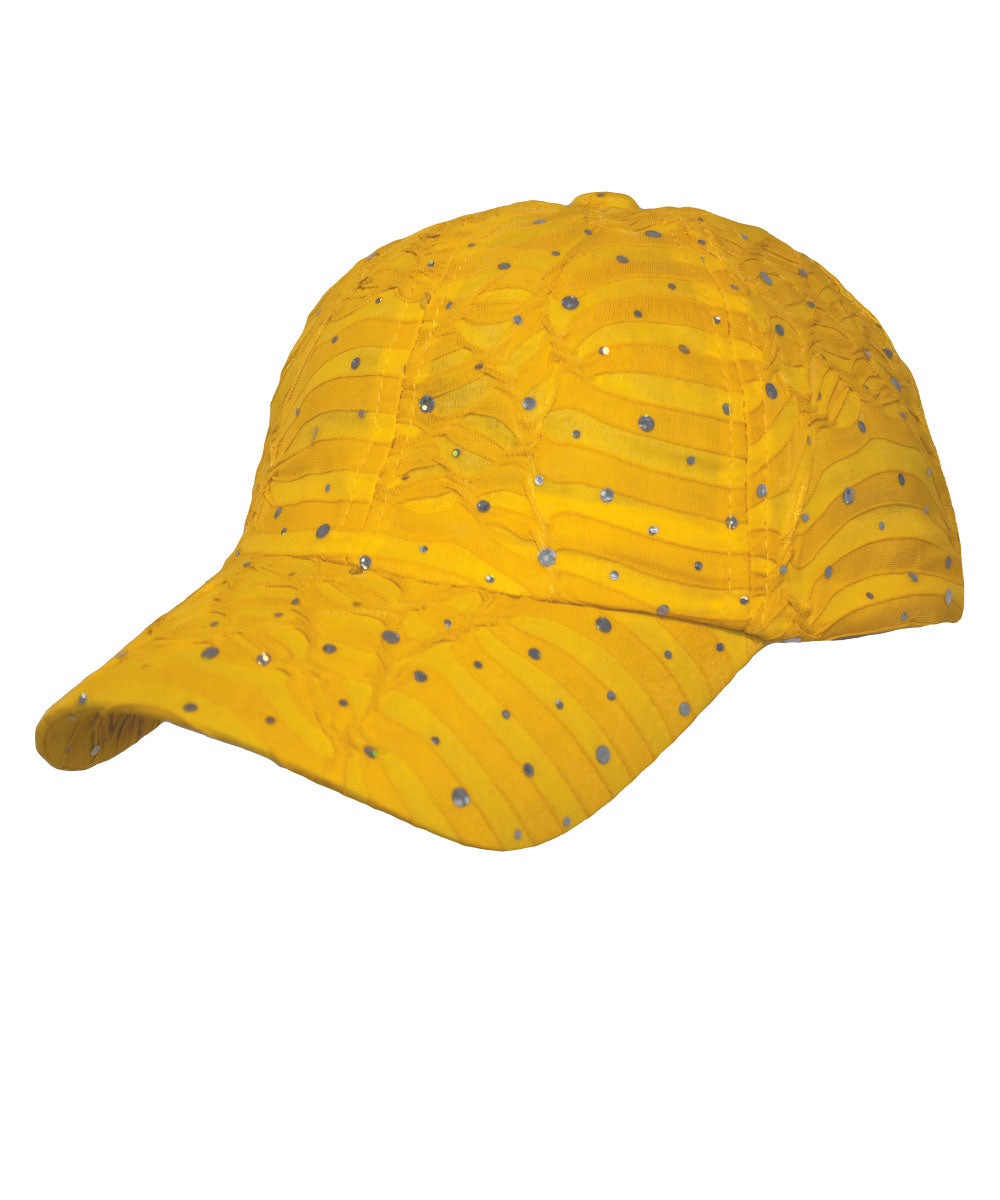 Yellow Glitter Cap