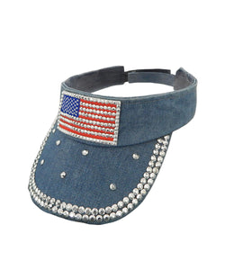 USA Denim Visor