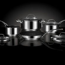 Load image into Gallery viewer, THE ROCK™ by Starfrit® Stainless Steel Non-Stick 8-Piece Cookware Set with Stainless Steel Handles