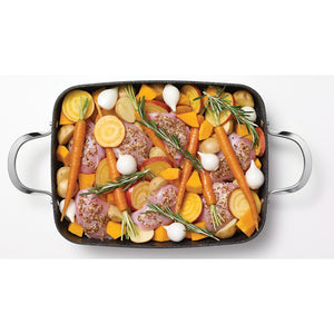 "THE ROCK™ by Starfrit® One Pot 9"" x 13"", 5.3-Quart Rectangular Dish with Lid"