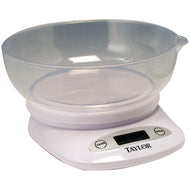 Taylor 4.4lb-Capacity Digital Kitchen Scale with Bowl