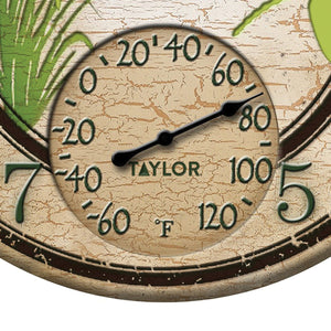 12-Inch Dragonflies Clock with Thermometer - Northwest Homegoods
