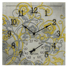 Load image into Gallery viewer, 14-Inch x 14-Inch Beachwood Clock with Thermometer - Northwest Homegoods