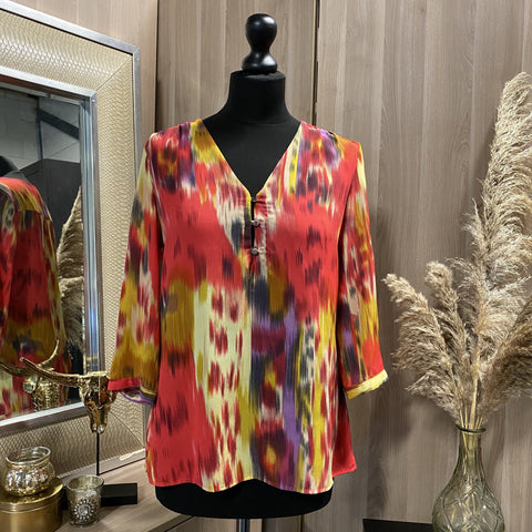 BLOUSE WE MULTICOLOR TWEEDEHANDS WE DAMES KLEDING BLOUSE RIDDERKERK