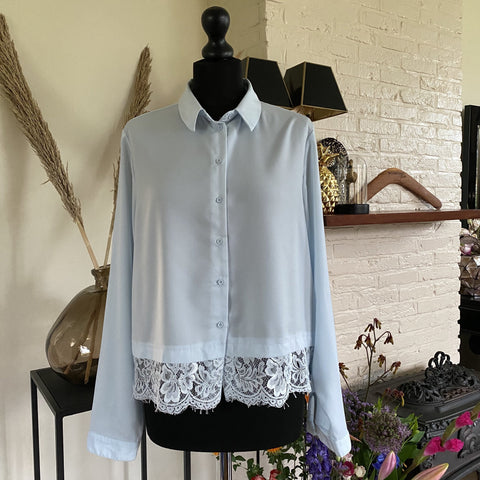 BLOUSE COSTES MET KANT
