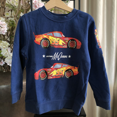 SWEATER H&M CARS DONKERBLAUW