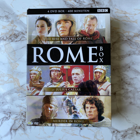 DVD BOX ROME (THE RISE AND FALL OF ROME - JULIUS CAESAR - MURDER IN ROME) TWEEDEHANDS ONLINE