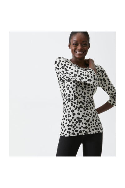 Shine 3/4 Sleeve Animal Print Tee - Meridian