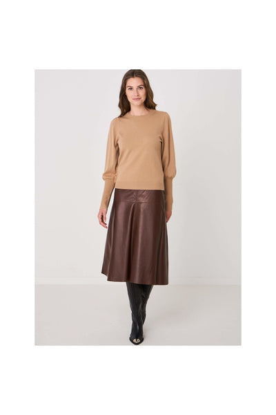 Cropped Jumper With Puff Sleeves - Meridian