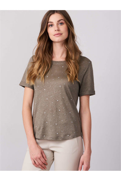 Linen T-Shirt with Star Print - Meridian
