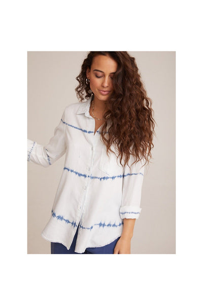 Frayed Hem Button Down - Meridian