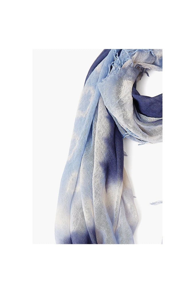 Grisaille / Dusty Blue Cashmere And Silk Scarf - Meridian