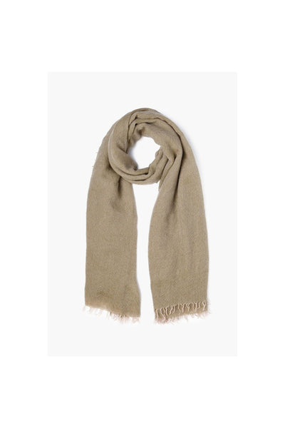 Garden Green Two Toned Cashmere Scarf - Meridian