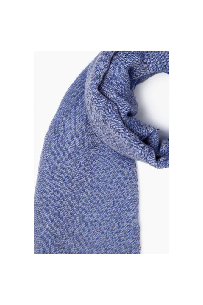 Nautical Blue Two Toned Cashmere Scarf - Meridian