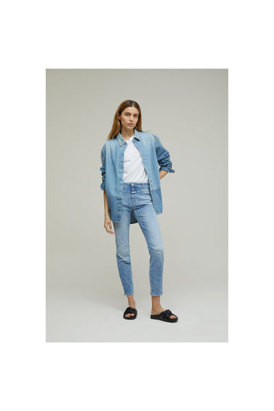 Skinny Pusher Organic Super Stretch Blue Denim - Meridian