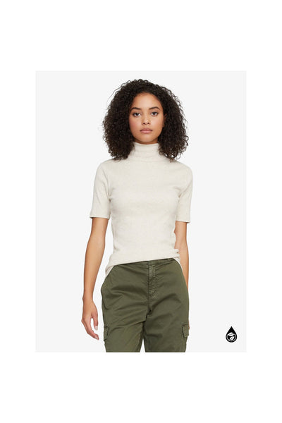 Essential Short Sleeve Mock Neck Top - Meridian