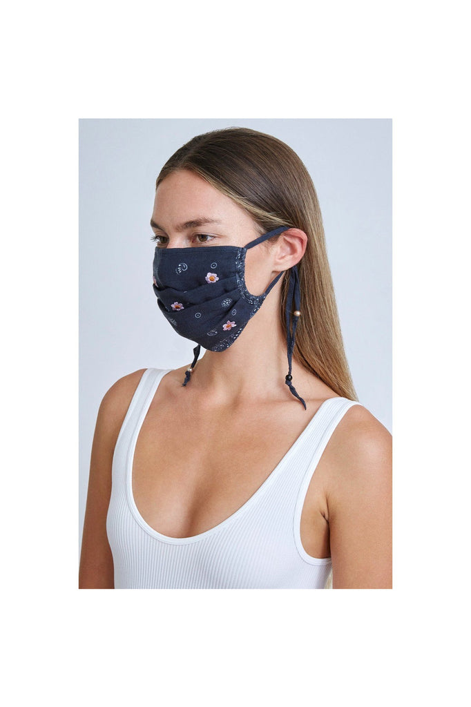 Black Daisy Face Mask - Meridian