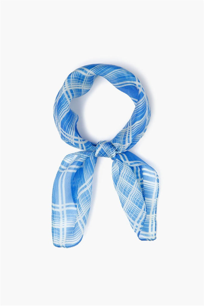 Palace Blue Plaid Bandana - Meridian