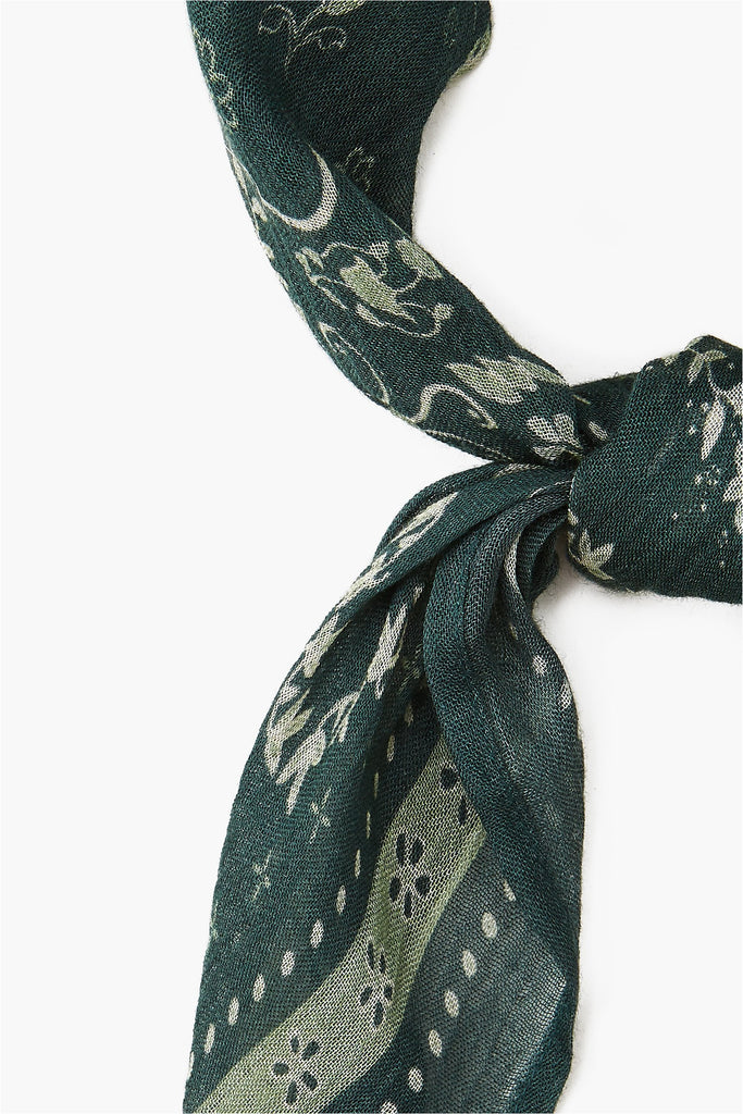 Forest Green Paisley Bandana - Meridian