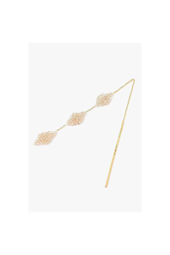 Golden Shadow Lozenge Thread Thru Earrings - Meridian