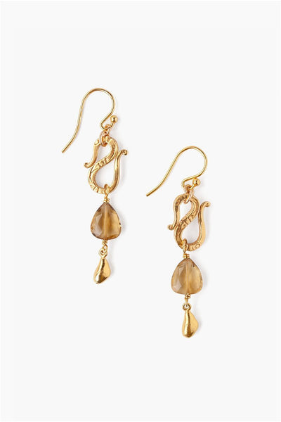 Whiskey Quartz Earrings - Meridian