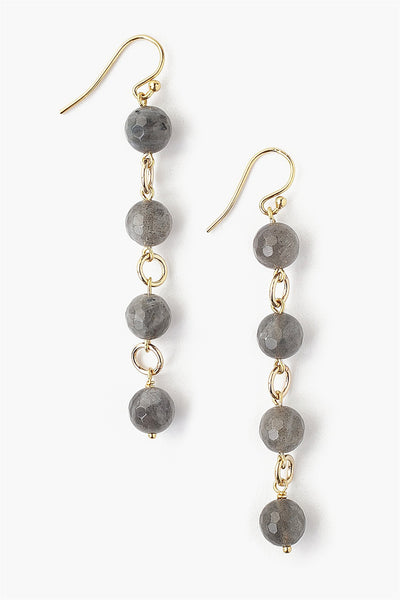 Labradorite Drop Earrings - Meridian
