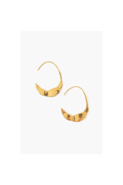 Petite Gold Crescent Moon Hoops - Meridian