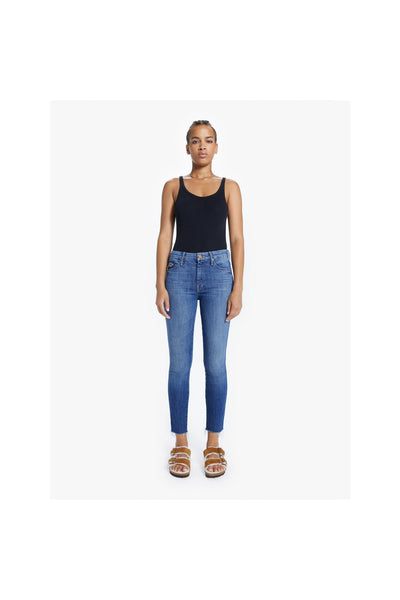 The High Waisted Double Looker Ankle Fray - Meridian
