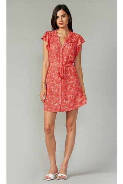 Lenza Gathered Detail Print Dress - Meridian
