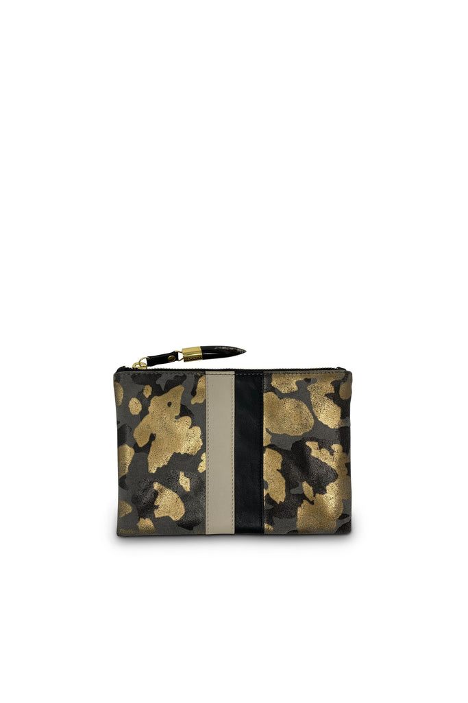 Small Pouch - Charcoal Gold Camo - Meridian