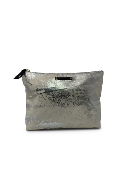Silver Splatter Canvas Pouch - Meridian
