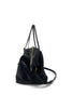 Black Snake Skin Large Crossbody - Meridian