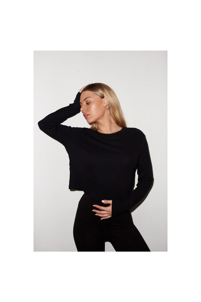 Ribbed Long Sleeve Crew - Meridian