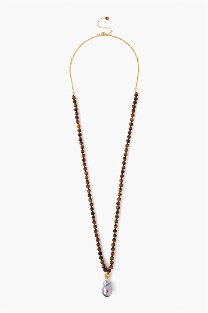 Matte Tiger's Eye Necklace - Meridian