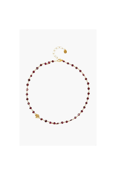 Garnet And Gold Charm Necklace - Meridian
