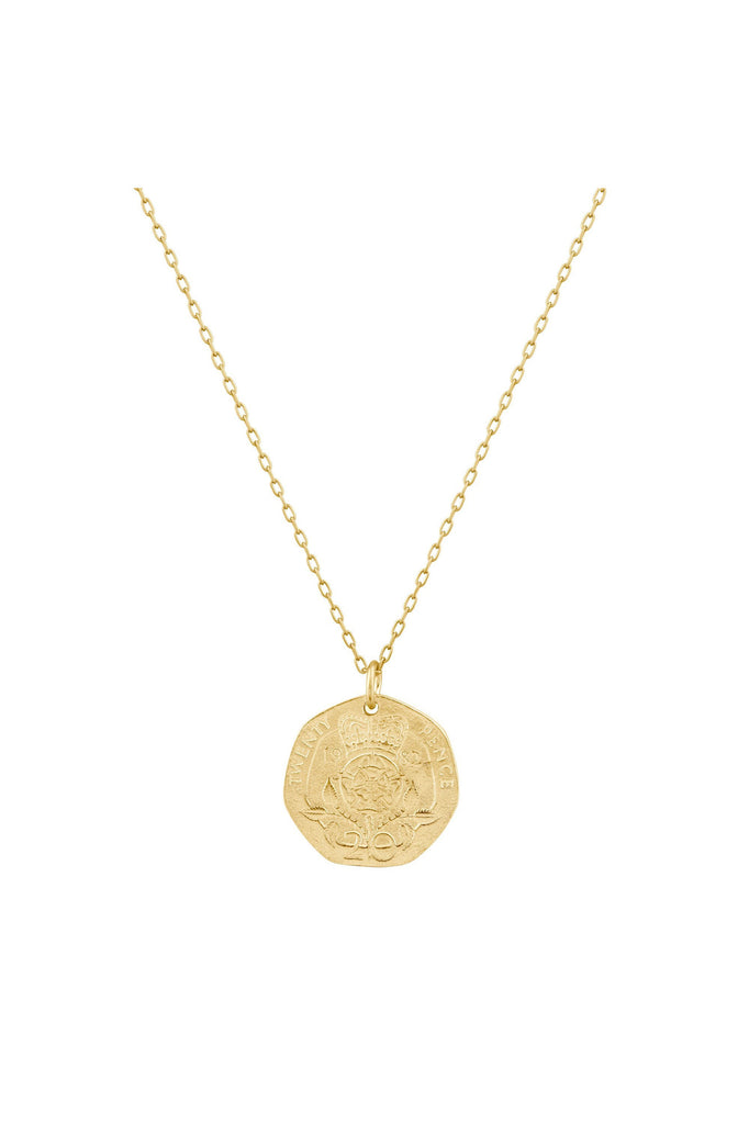 Rose Crown Coin Necklace - Meridian