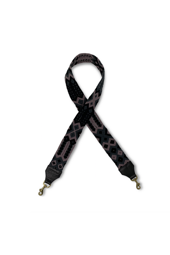 Bag Strap - Mauve, Grey And Black - Meridian