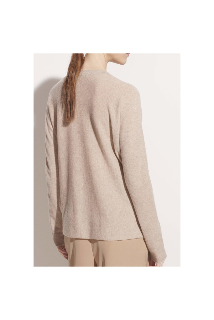 Cashmere Drop Shoulder Crew - Meridian