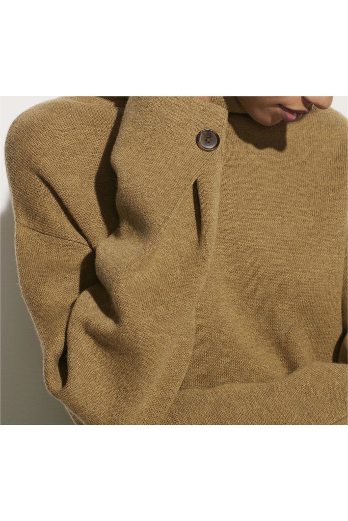 Button Cuff Turtleneck - Meridian