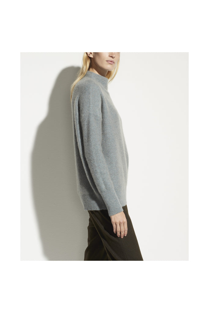 Boiled Cashmere Funnel Neck Pullover - Meridian