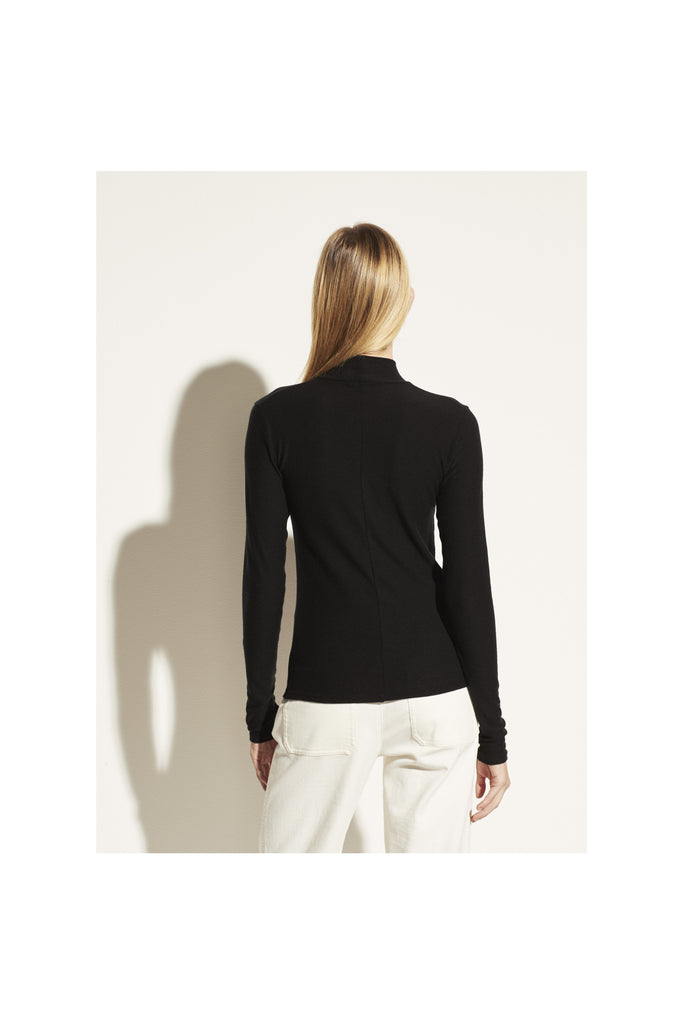 Long Sleeve Twist Mock Neck - Meridian