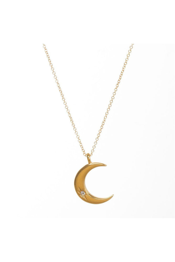 Love Through All Phases Crescent Necklace - Meridian