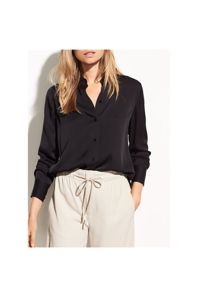 Slim Fitted Stretch-Silk Blouse - Meridian