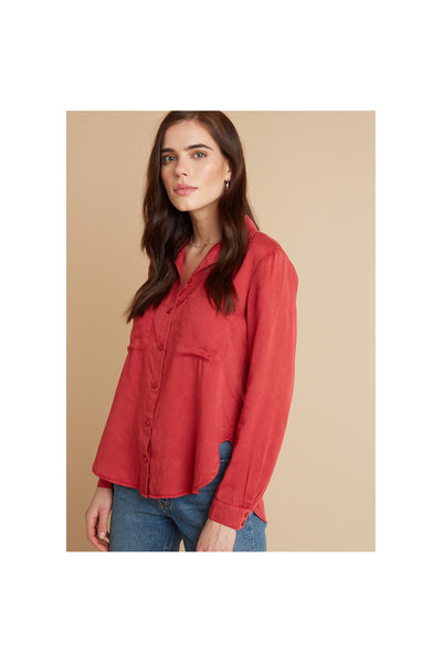 Pocket Flowy Button Down - Meridian