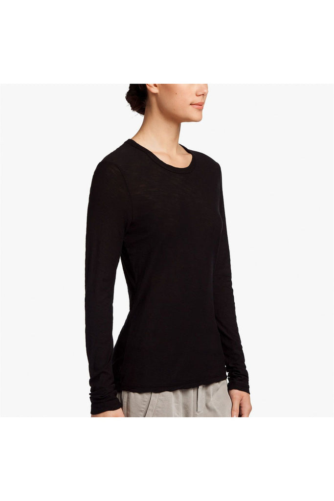 Sheer Slub Long Sleeve Crew - Meridian