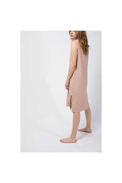 V-Neck Gauze Dress - Meridian