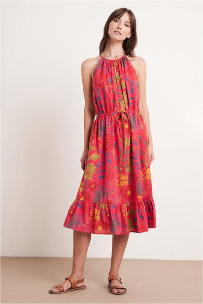 Purl Madras Floral Printed Dress - Meridian